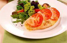 Hähnchenschnitzel Tomate-Mozzarella - Kohlenhydratfreie Rezepte für die Low carb Diät