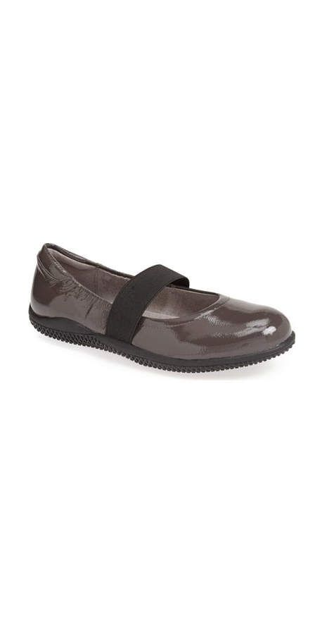 a8dde61004bf SoftWalk High Point Mary Jane Flat  The extra-wide elastic band across  these retro Mary Jane-style flats helps to keep the feet supported with  every step.