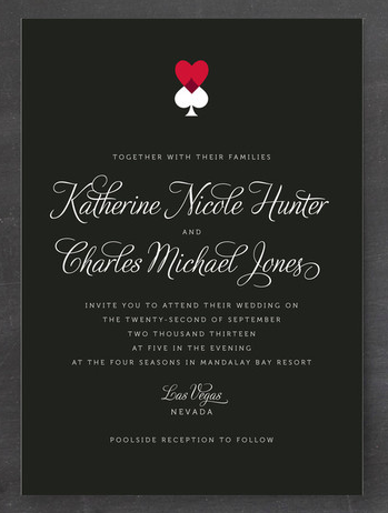 7 Unexpected Las Vegas Wedding Invitations | Vegas, Vegas wedding ...