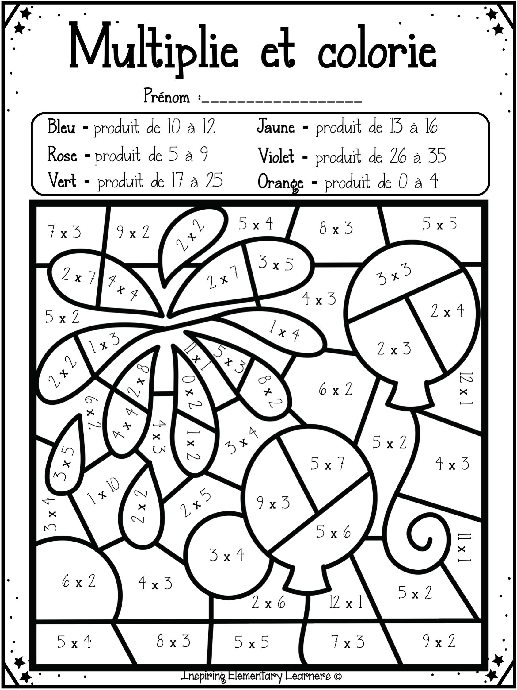 Coloriage Coloriagemagique Multiplication