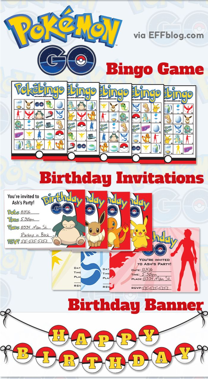 Large Of Pokemon Birthday Invitations