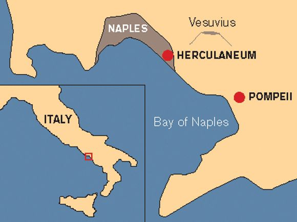 Pompeii Herculaneum Maps Of The Ancient World Pinterest: Pompeii Italy Map At Infoasik.co