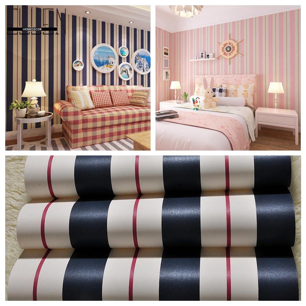 (Buy here: http://appdeal.ru/1zks ) Stripe Wall Paper blue Pink Color Boys Bedroom Wallpaper Girls Livingroom Mediterranean Style Papel de parede infantil for just US $39.00