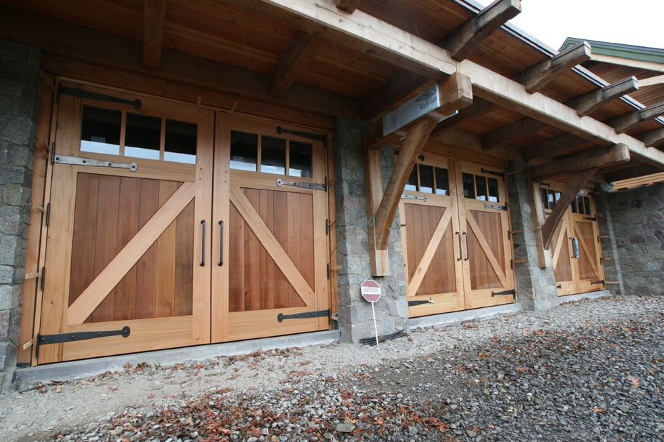 Barn Garage Doors pics of inside timberframe homes | timber frame barn doors | new