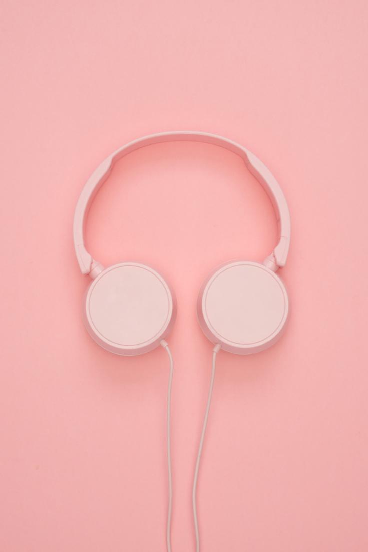 Wallpaper Music Pink Background