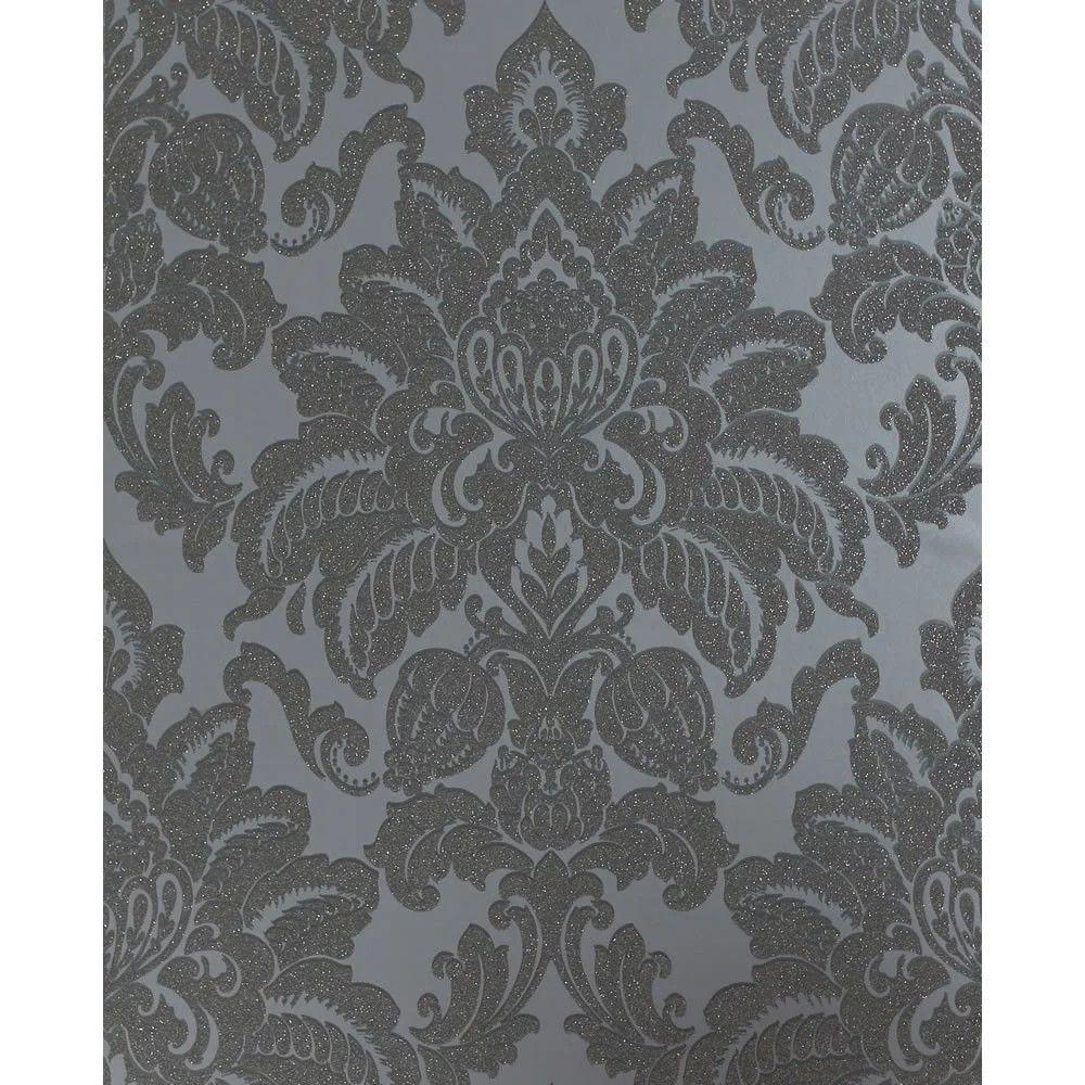 Pin by Gemma Harrison on Bedroom Ideas Silver wallpaper