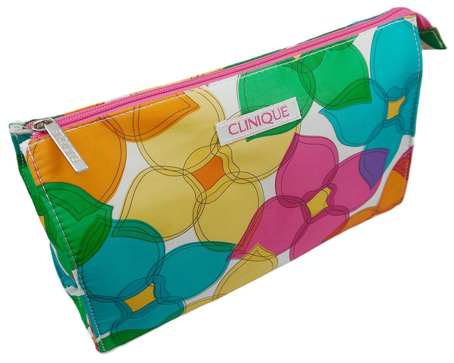 Clinique Green Orange Pink Cosmetic Makeup Bag ** Check