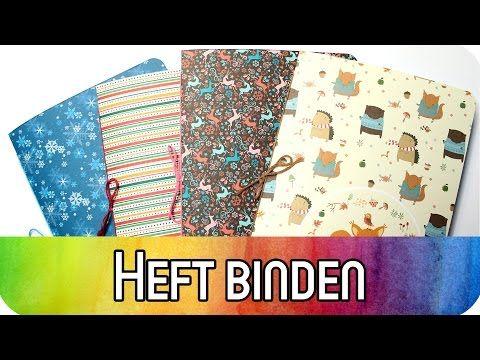 diy basics buchbinden f r anf nger einfaches heft binden kreativbunt youtube handmade. Black Bedroom Furniture Sets. Home Design Ideas