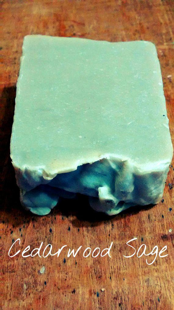 Cedarwood Sage with Green Sea Clay Soap (Unisex) 3oz