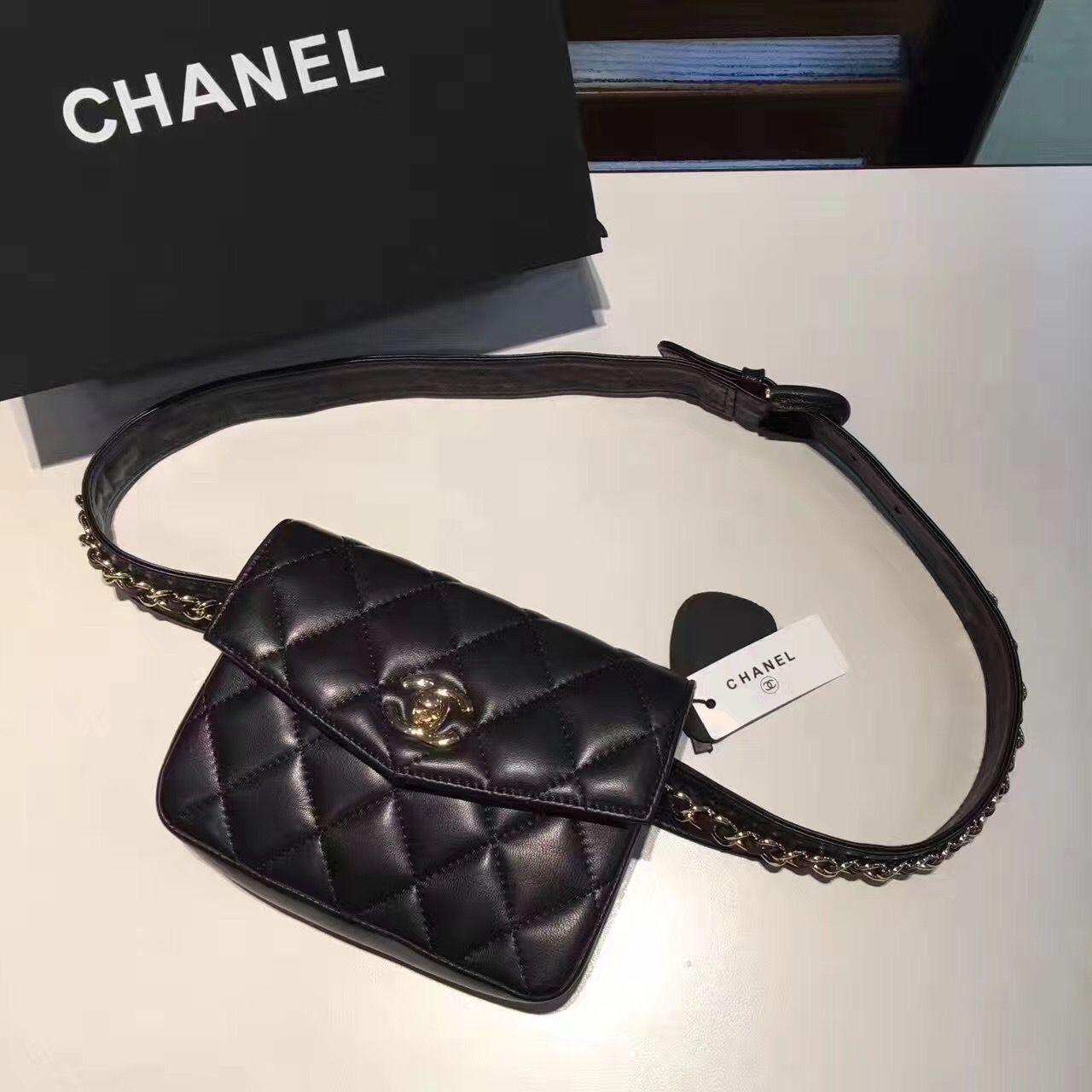 Chanel Woman Waist Bag Original Leather Bags Chanel Bag Chanel