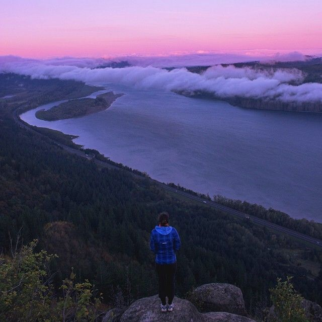 Sunrise hike at Angel's Rest in the Columbia River Gorge by @J Knox. #Padgram #traveloregon