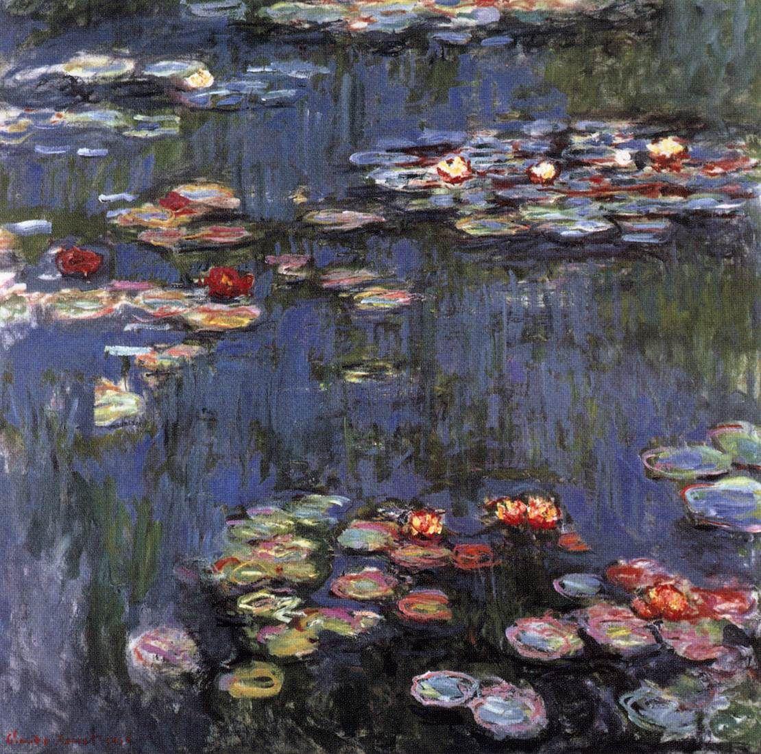 Monet Claude Water Lilies 1914 Oil Canvas 200 X