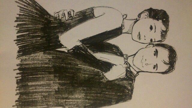 A beautiful drawing of Audrey Hepburn *_*