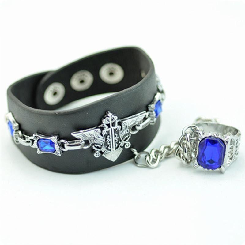 Black Butler Bracelet - Sapphire Chain Ring