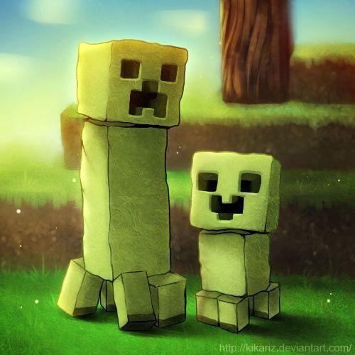 Creepers Kiddo Is Happy Lolz Minecraft Wallpaper Minecraft D