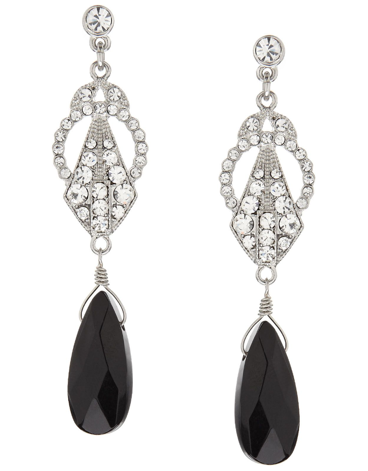 Baroque Stone Short Drop Earrings Adornments Pinterest