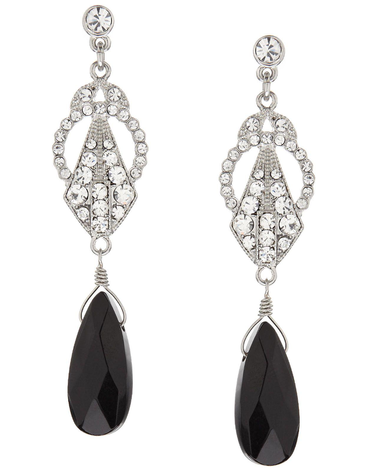 Baroque Stone Short Drop Earrings Adornments Pinterest