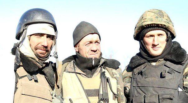 Ukrainian soldiers in Debaltseve