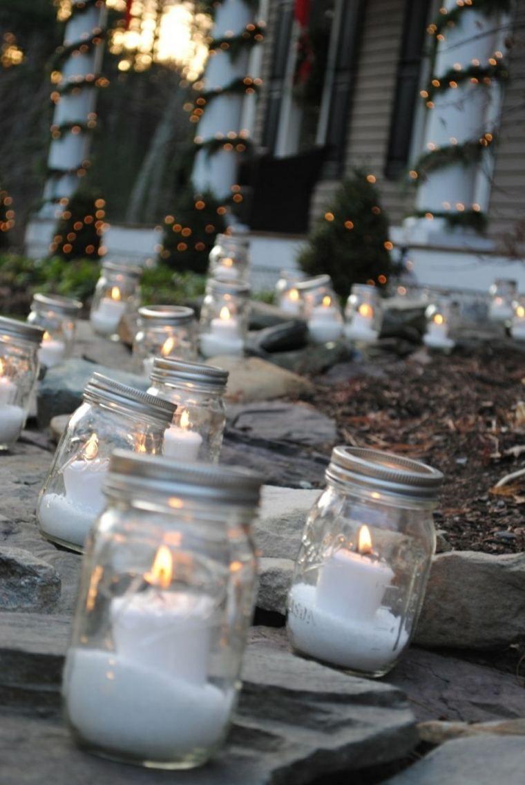 Décoration extérieure avec bougies DIY