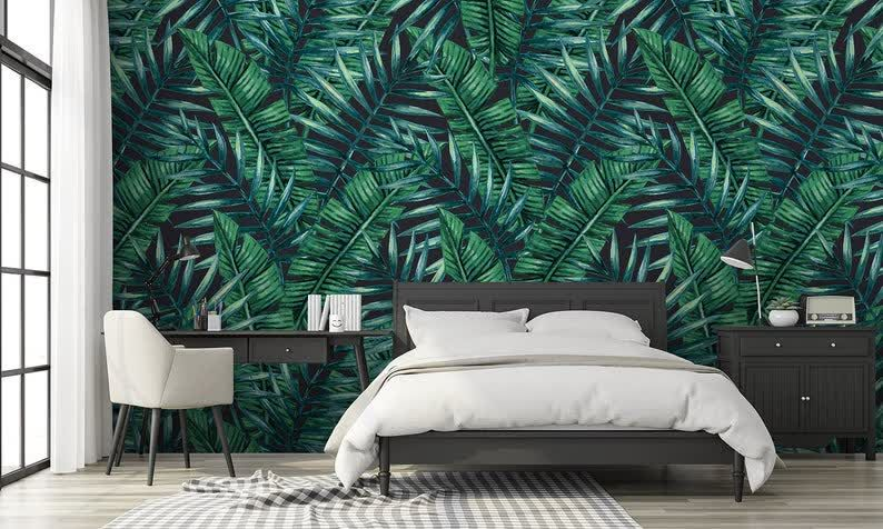Pin On Removable Wallpapers Green and white wallpaper for walls