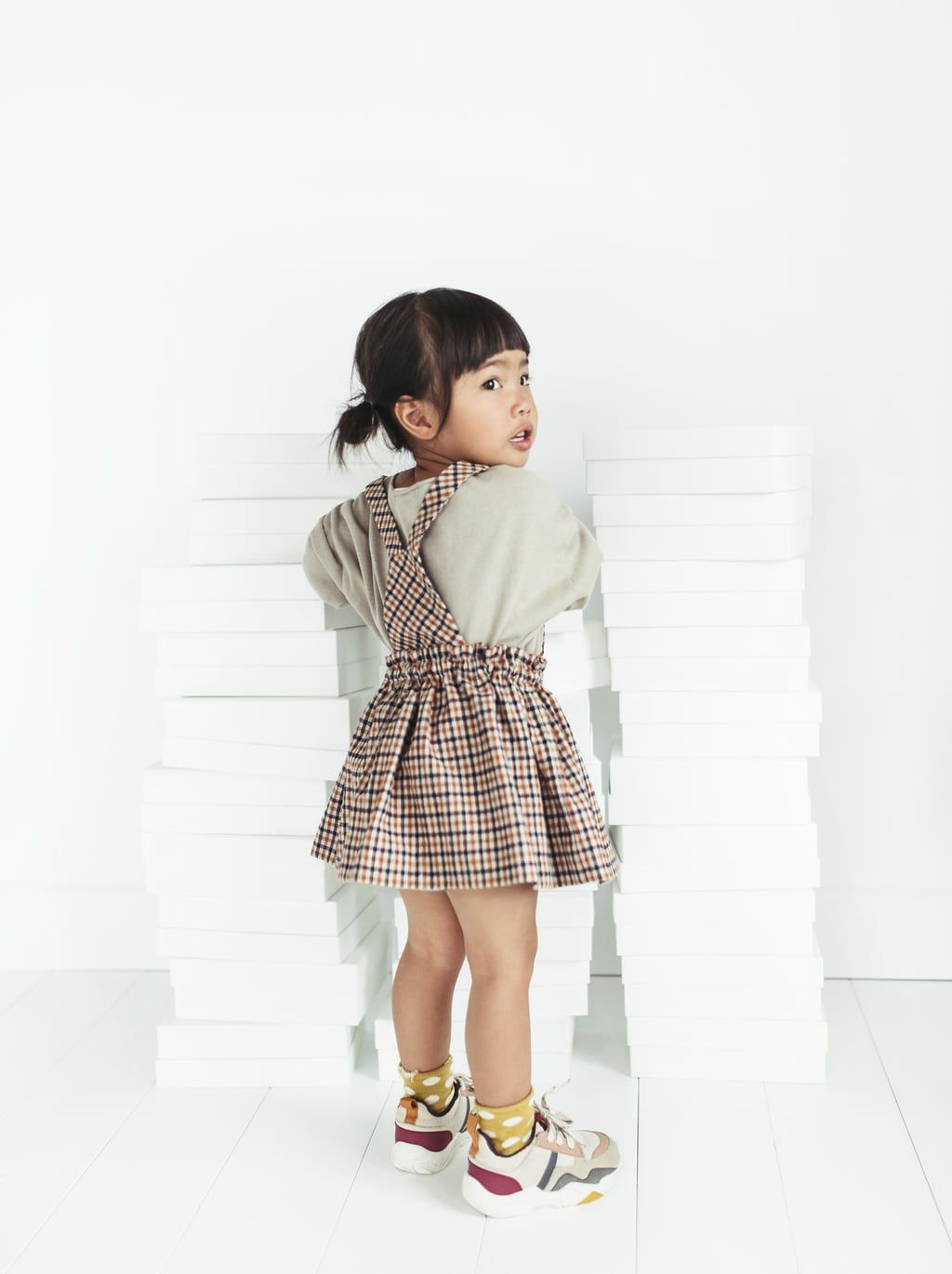 23ebaa9a40 Image 1 of PLAID SKIRT WITH STRAPS from Zara Checked Skirt Outfit, Baby Girl  Fashion