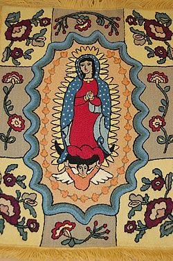 Our Lady of Guadalupe, Colcha embroidery