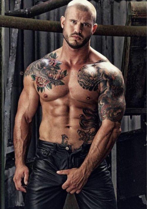 Men shaved crotch