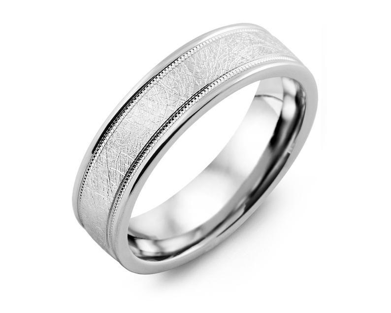 Men S Hand Brush Milgrain Edges 925 Sterling Silver Etsy In 2020 Silver Wedding Bands Sterling Silver Wedding Rings Silver Wedding Rings