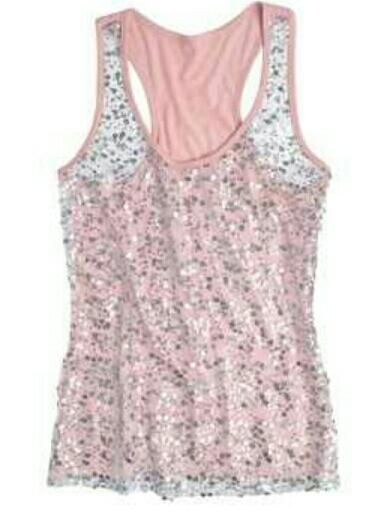 0e2565a363550 Light pink and sequins. Light pink and sequins Sequin Tank Tops ...