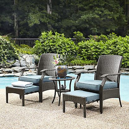 369 Free Pick Up At Sears Garden Oasis Banks 5 Piece Seating Set Outdoor Furniture Wicker Patio Furniture Quality Outdoor Furniture