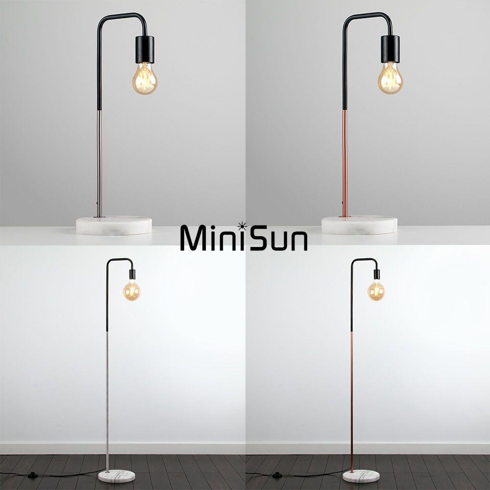 Table lamp vintage style - Details About Vintage Industrial Style Floor Table Lamp Solid Marble Lounge Light Led Bulb