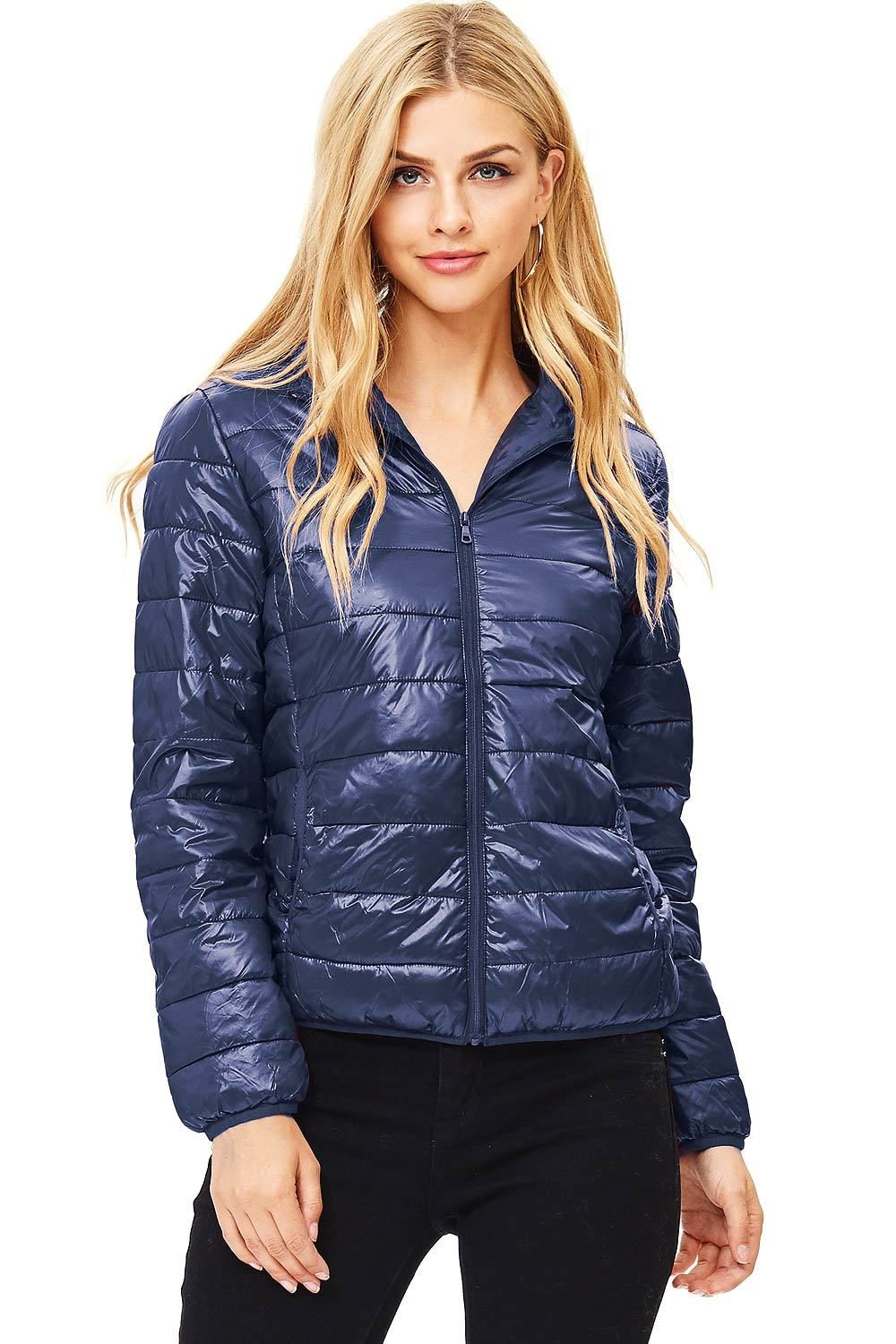 Quilted Puffer Hooded Jacket Features Side Pockets And A Front Zipper Closure Super Light Jacket Is Great For Layer Puffer Jacket Women Puffer Jackets Jackets [ 1500 x 1000 Pixel ]