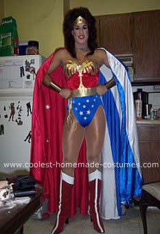 4c9e77a58e74 Homemade Wonder Woman Costume: I have always loved Lynda Carter as Wonder  Woman. So back in 2007 I decided to dress up as her and create a homemade  Wonder ...
