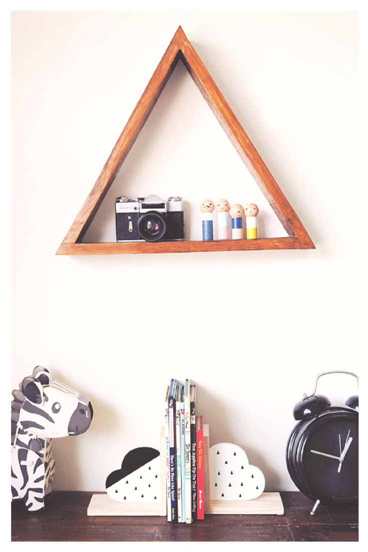 This Shows How A Single Rustic Triangle Shelf Made Out Of Reclaimed Wood Can Transform Boring Room Into Beautiful And Inspiring