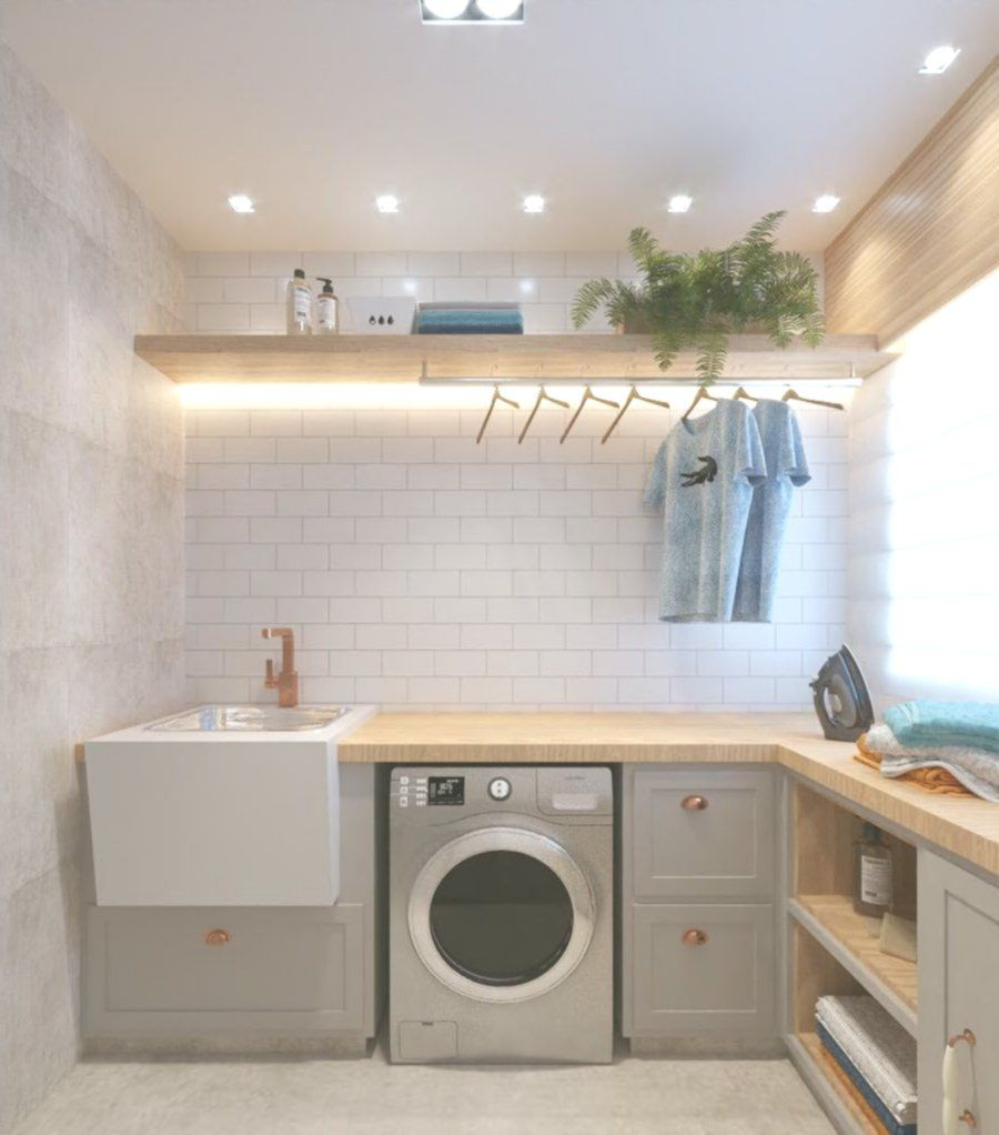 Amazing Small Laundry Ideas Pinterest Small Laundry Id In 2020 Small Laundry Room Makeover Laundry Room Organization Small Laundry Rooms