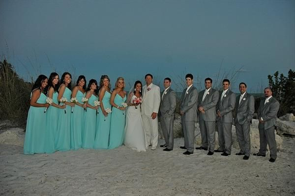 Tiffany Blue And Grey Colored Weddings Our Colors Were Aqua Silver With A Touch Of Pink