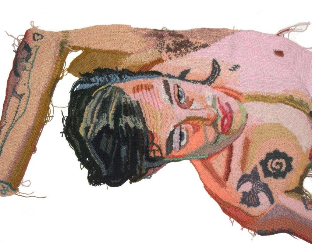 Crochet Portraits / Jo Hamilton - Reclining Shine, in progress