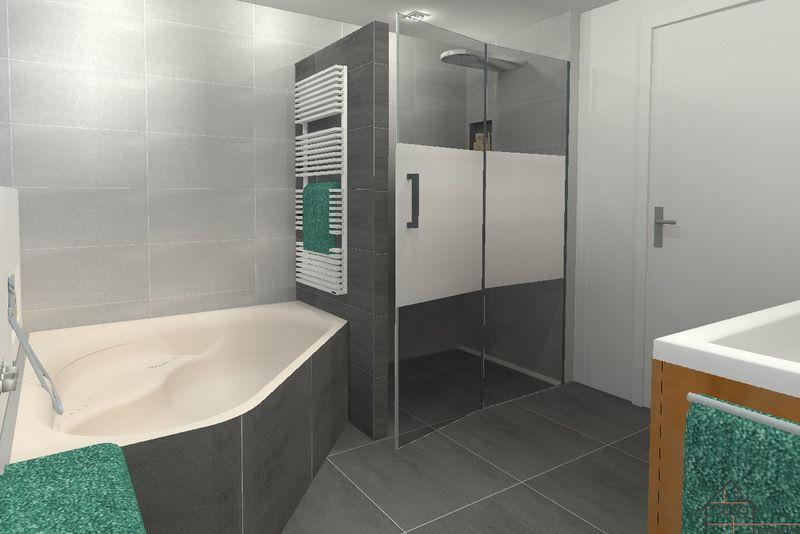 Hoekbad badkamer google zoeken bathroom inspiration pinterest zoeken - Moderne badkamer met italiaanse douche ...