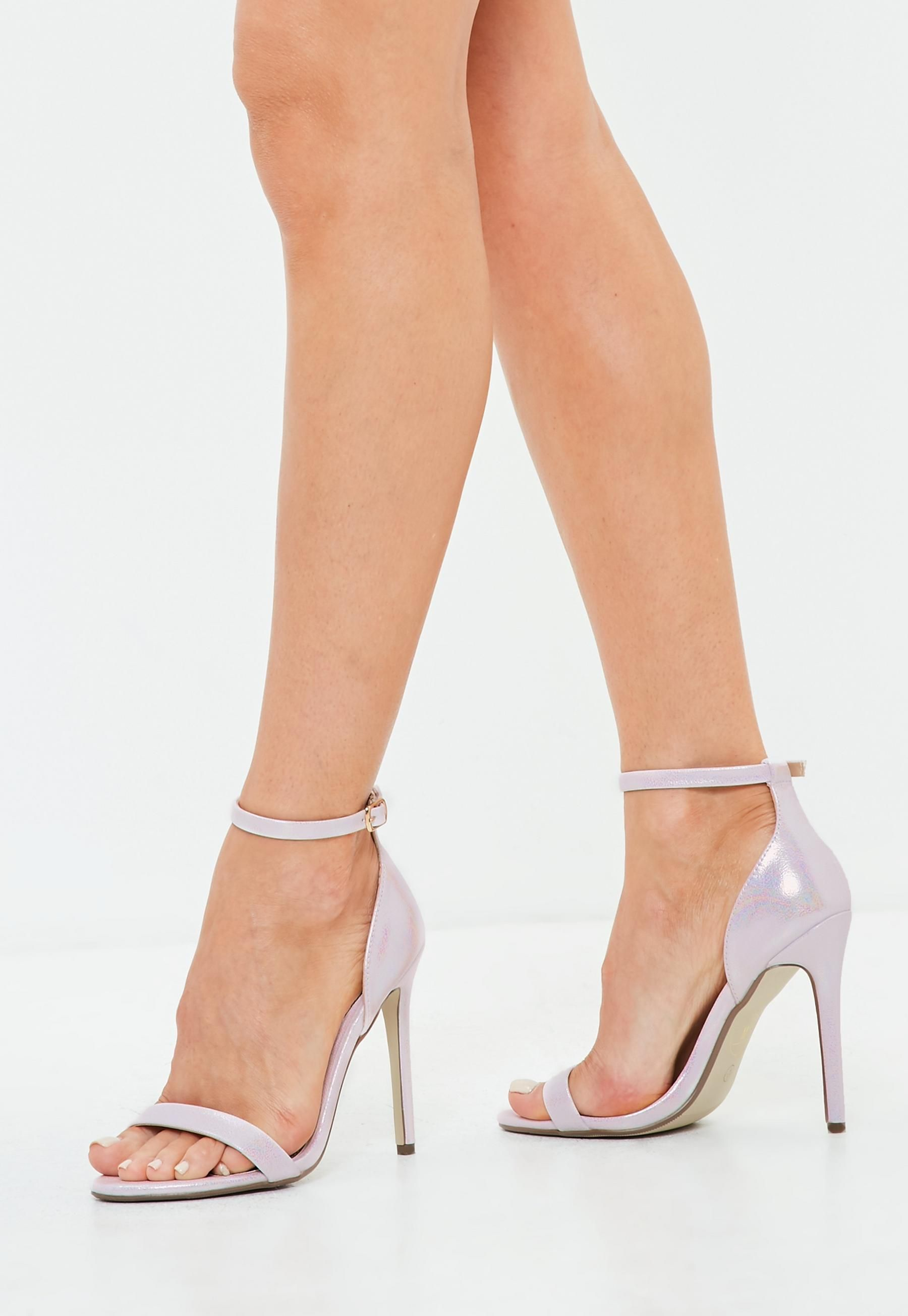 7b67e6e25bd white pearlised two strap barely there heels