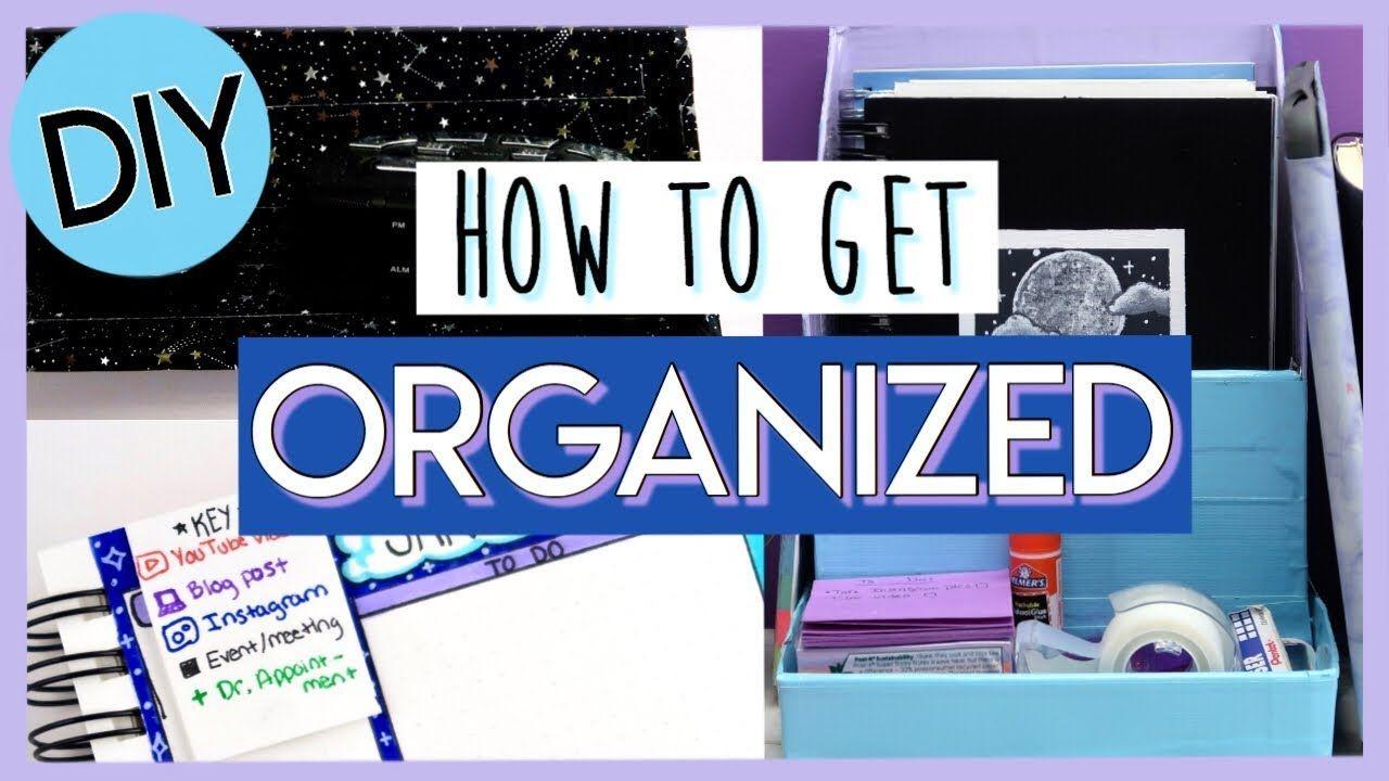 5 DIYS to help you GET ORGANIZED in 2020! Easy organization hacks