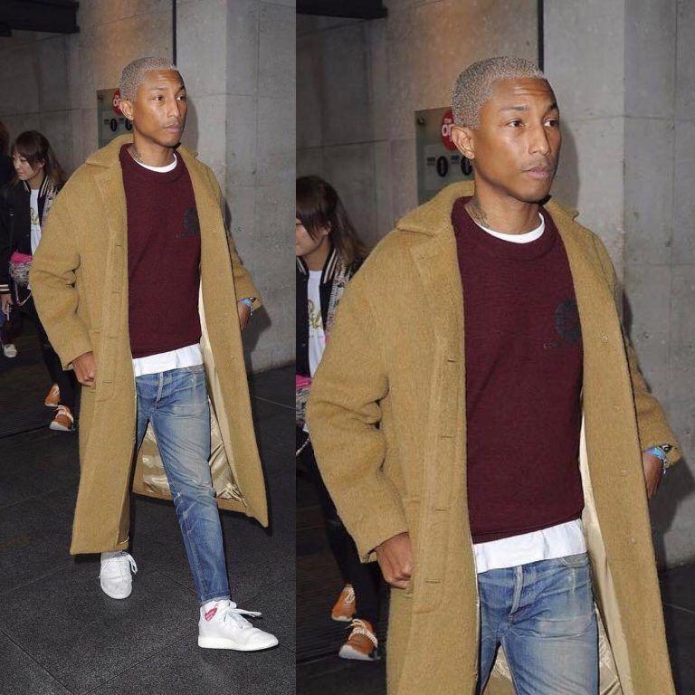 pharrell esce a londra con un prodotto umano, calzini e la adidas