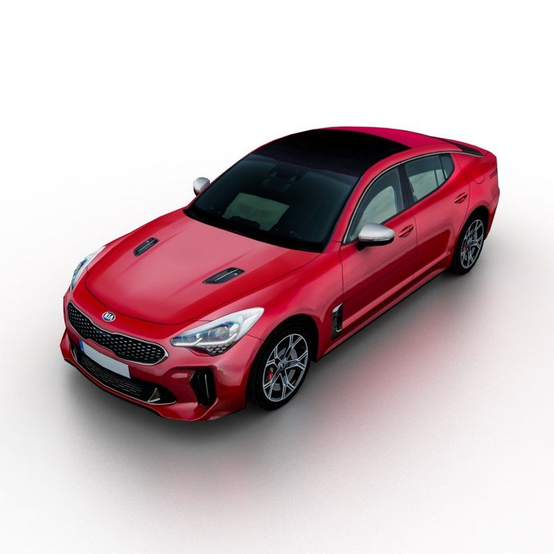 2018 Kia Stinger Gt 3d Kia Stinger Kia Car 3d Model