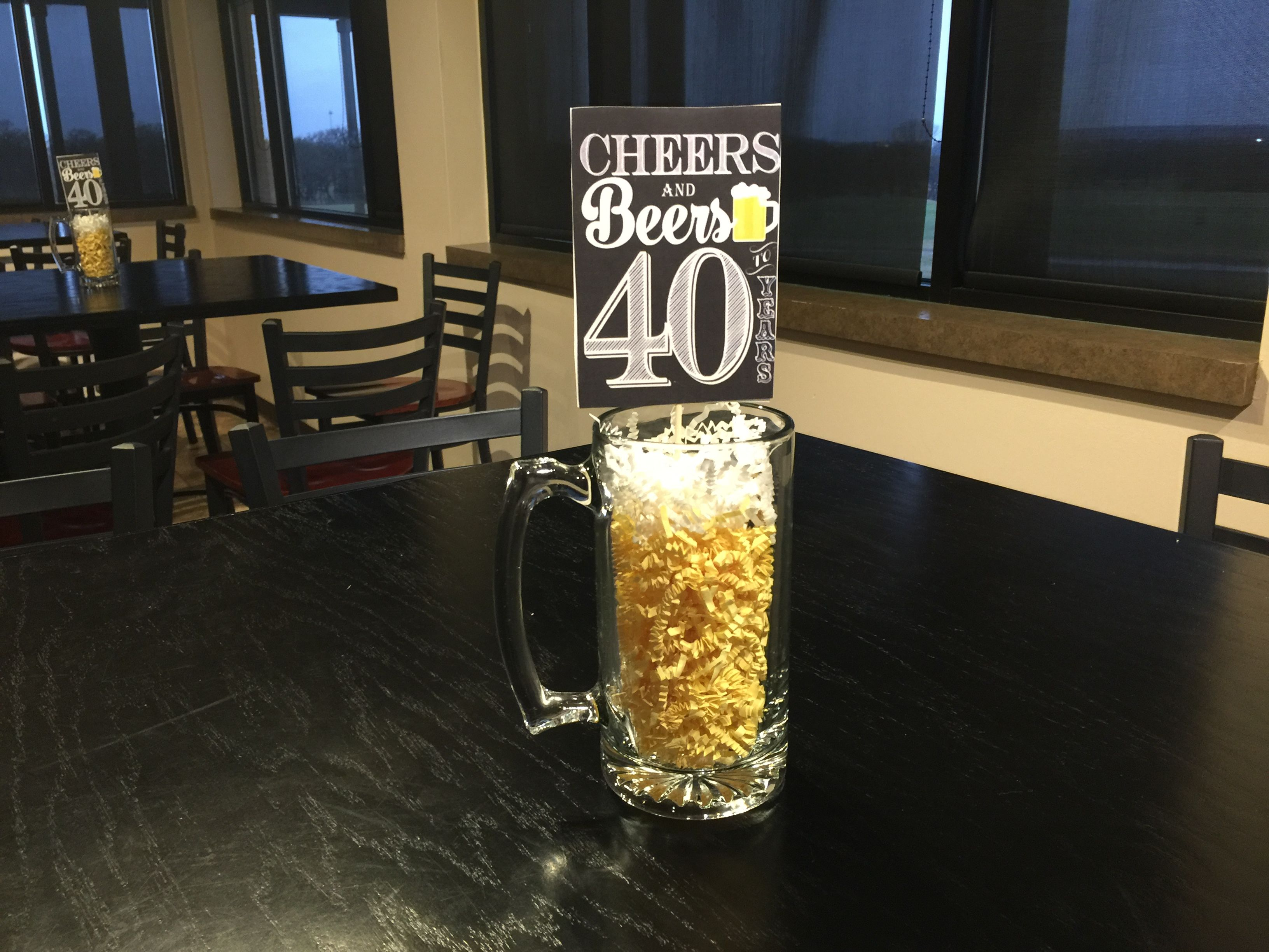 Strange Cheers And Beers To 40 Years Centerpiece Birthday Party Download Free Architecture Designs Lukepmadebymaigaardcom
