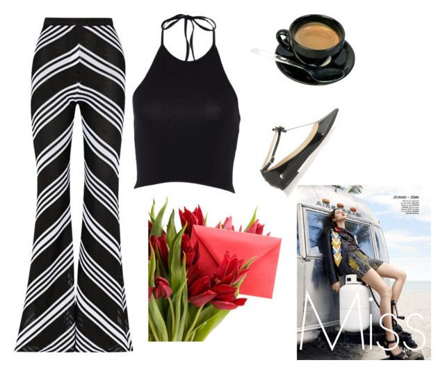 """Untitled #2655"" by doinacrazy ❤ liked on Polyvore featuring Balmain and Jimmy Choo"