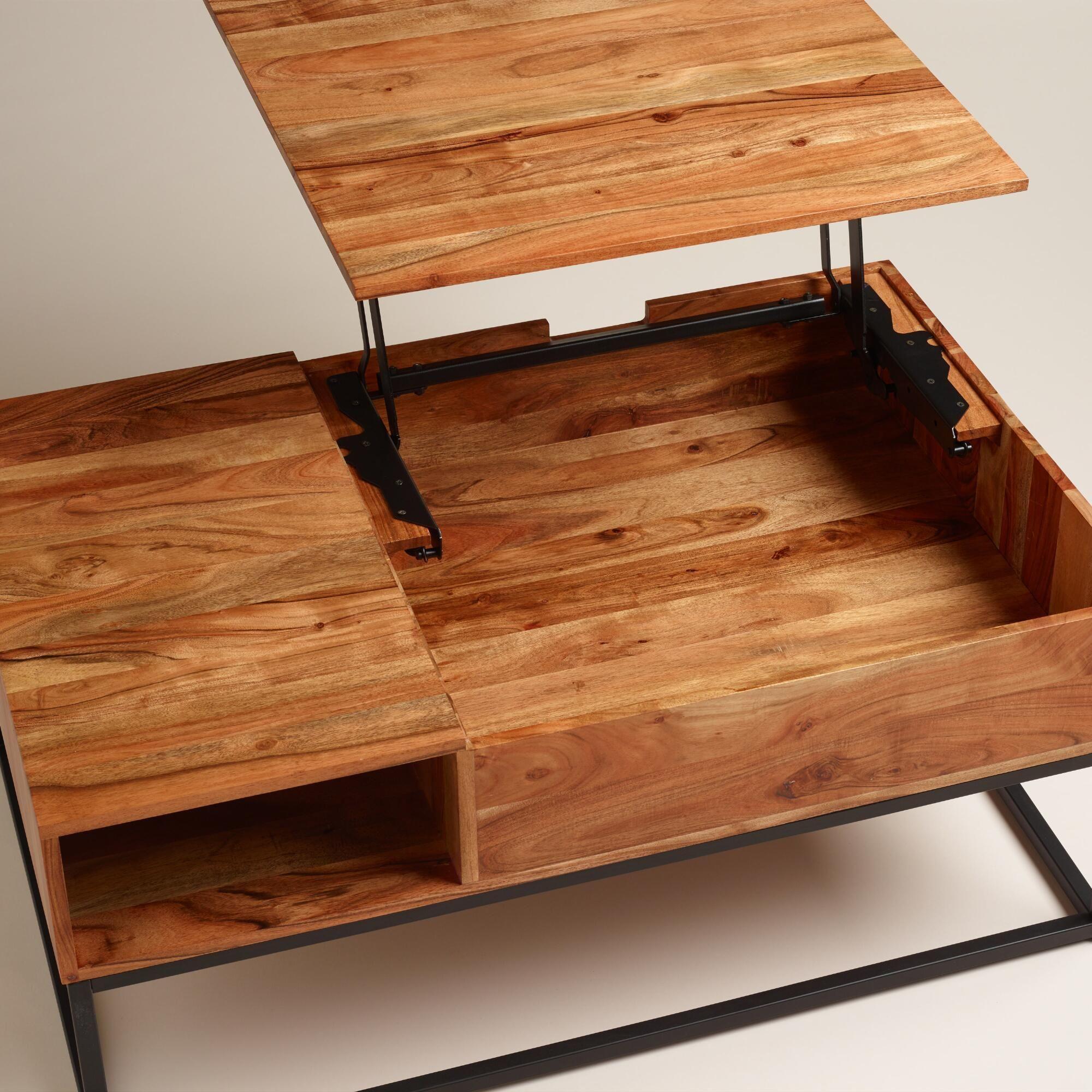 Wood Silas Storage Coffee Table Wohnzimmertische Couchtisch Holz Diy Wohnzimmer [ 2000 x 2000 Pixel ]