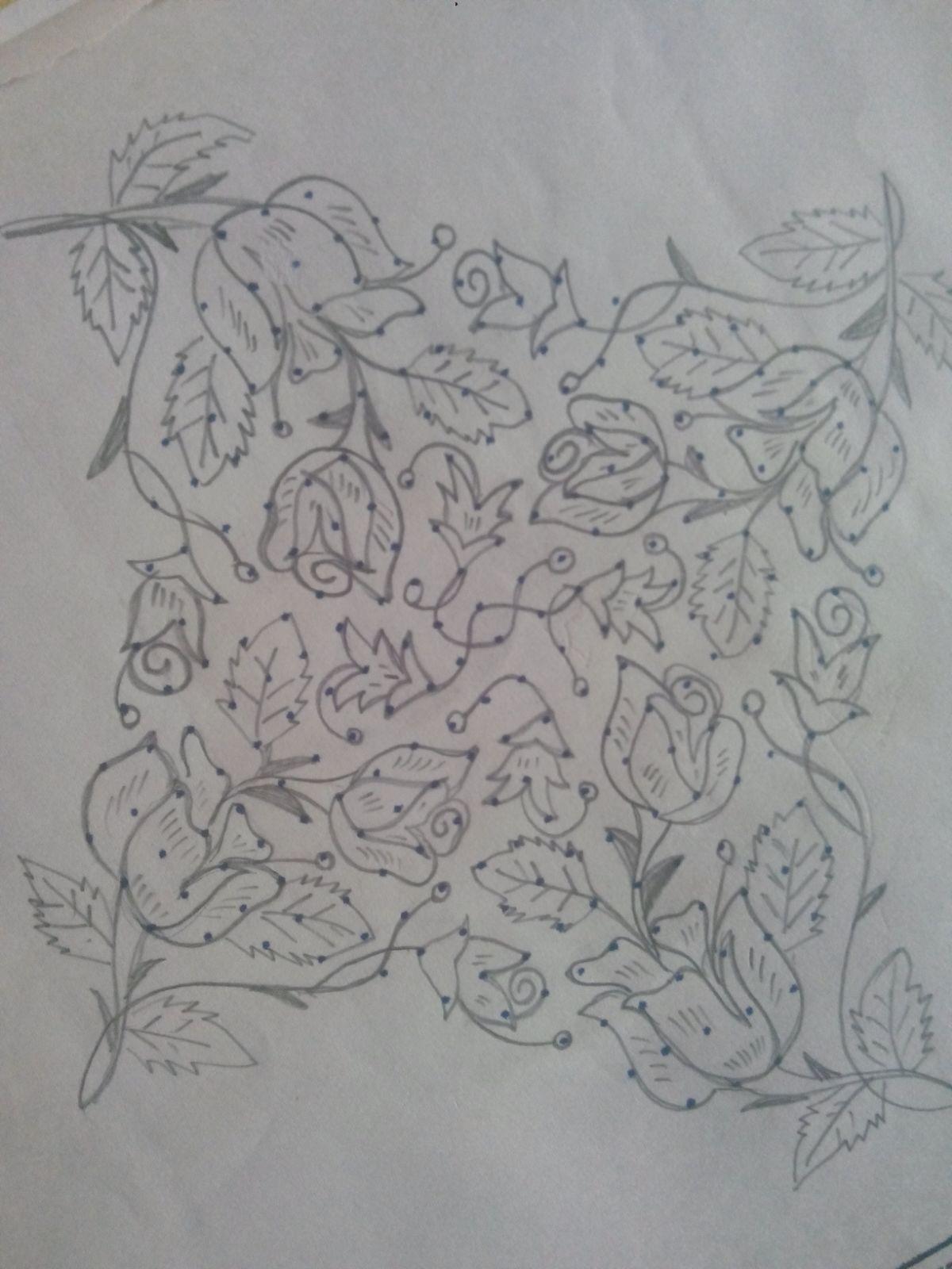 Roses... Small rangoli design, Rangoli designs, Page