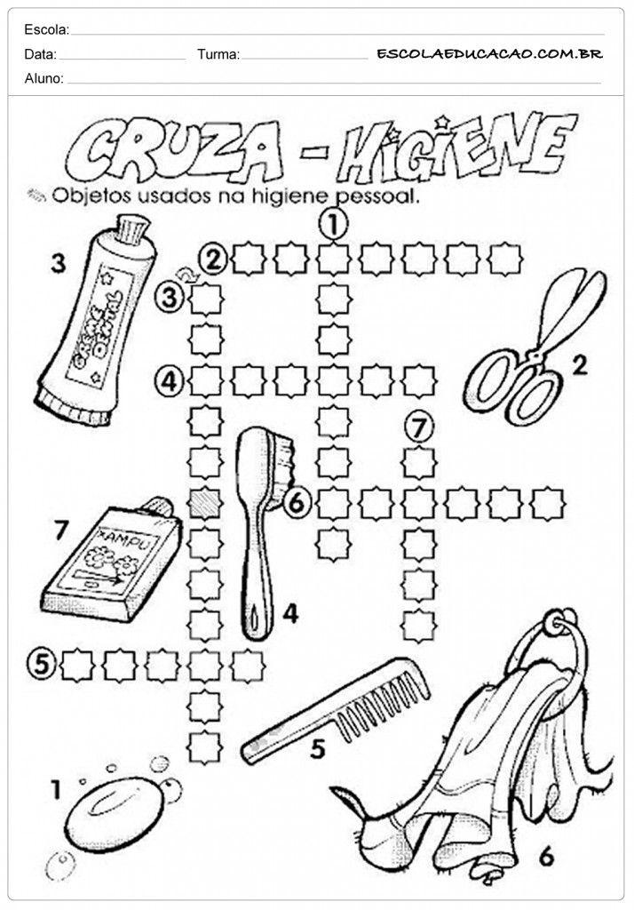 Atividades Higiene Corporal - Cruza Higiene | zdrowie | Pinterest