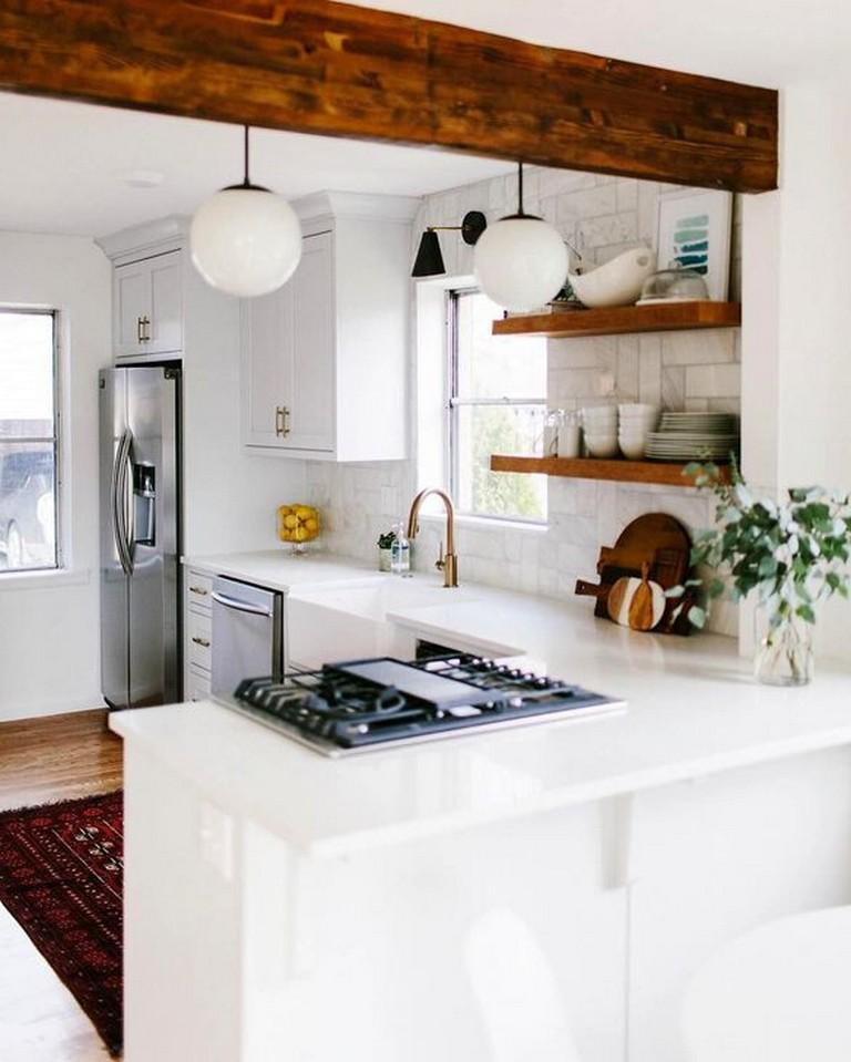 45 Modern Small White Kitchen Design Ideas Whitekitchen Kitchendesign Kitchendesignideas Small Cottage Kitchen Small Modern Kitchens Small Kitchen Decor