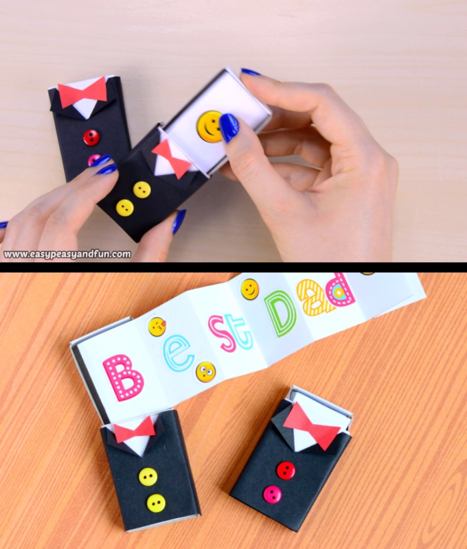 Tuxedo Matchbox Craft – Father's Day Craft for Kids #craft