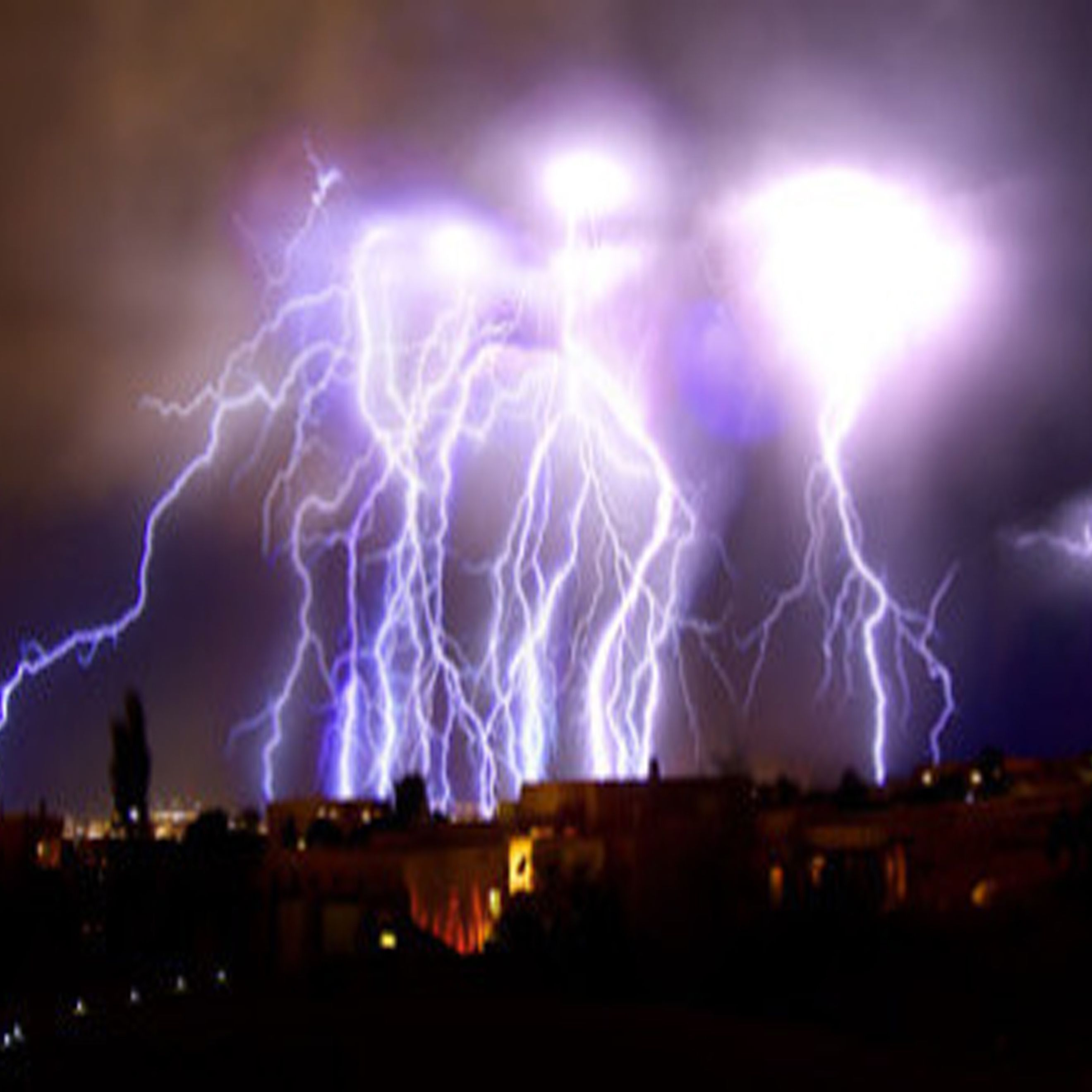 They say lighting doesn't strike the same place twice, but these bolts have bombarded the same area over eleven hair-raising minutes. Each individual lightning bolt pounds the ground with an average power of one billion volts, so the force of dozens of bolts a second over more than ten minutes can barely be imaged.